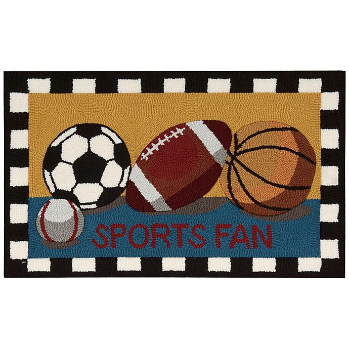 Alternate image 1 for Nourison Everywhere 18-Inch x 30-Inch Sports Fan Kitchen Mat