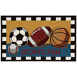 Nourison Everywhere 18-Inch x 30-Inch Sports Fan Kitchen Mat