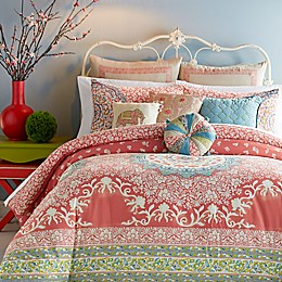 Jessica Simpson Amrita Medallion 2-Piece Twin/Twin XL Comforter Set in Coral