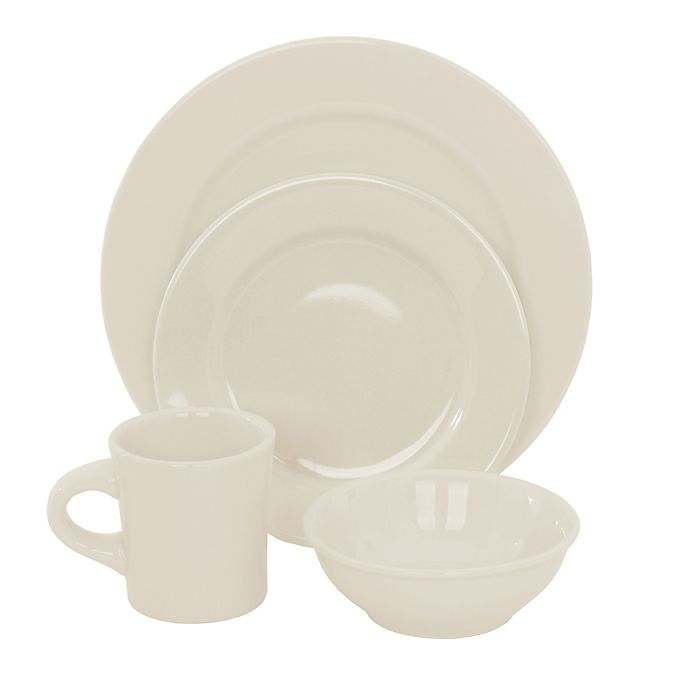 Alternate image 1 for Oneida® Buffalo 16-Piece Dinnerware Set in White