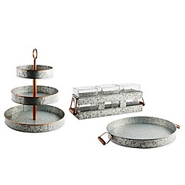 Heritage Home Galvanized Metal and Copper Serveware Collection