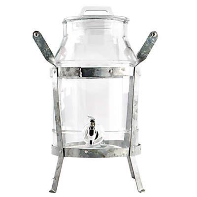 Heritage Home 2-Piece Galvanized Metal and Copper Beverage Dispenser Set