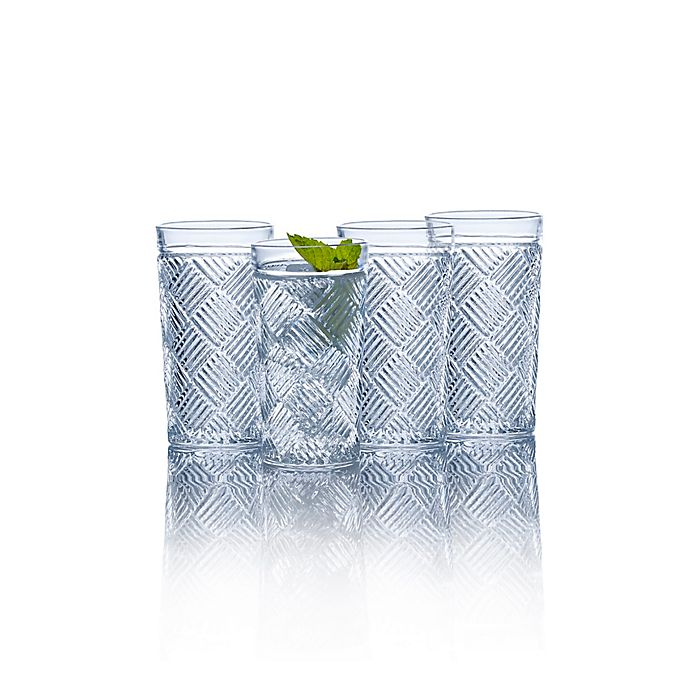 Alternate image 1 for Mikasa® Ballard Braid Highball Glasses (Set of 4)