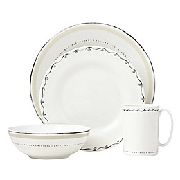 kate spade new york Union Square™ Doodle 4-Piece Place Setting in Taupe