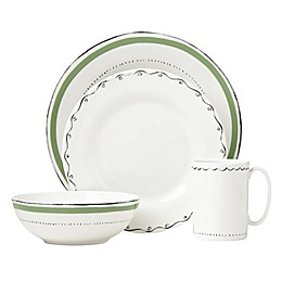 kate spade new york Union Square™ Doodle 4-Piece Place Setting in Green