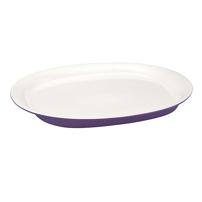 Alternate image 1 for Rachael Ray™ Stoneware Round & Square 14-Inch Oval Serving Platter in Purple