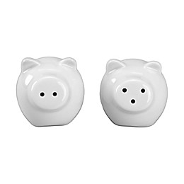 Bia Cordon Bleu Mini Pig Salt & Pepper Set in White