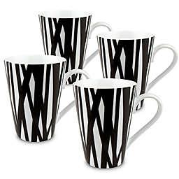 Konitz Rhythm Mugs in Black/White (Set of 4)