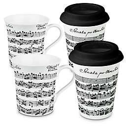 Konitz Vivaldi Libretto To Stay and To Go Mugs (Set of 4)