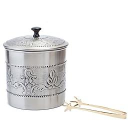 """Old Dutch International """"Victoria"""" 3-Piece Ice Bucket Set in Antique Pewter"""