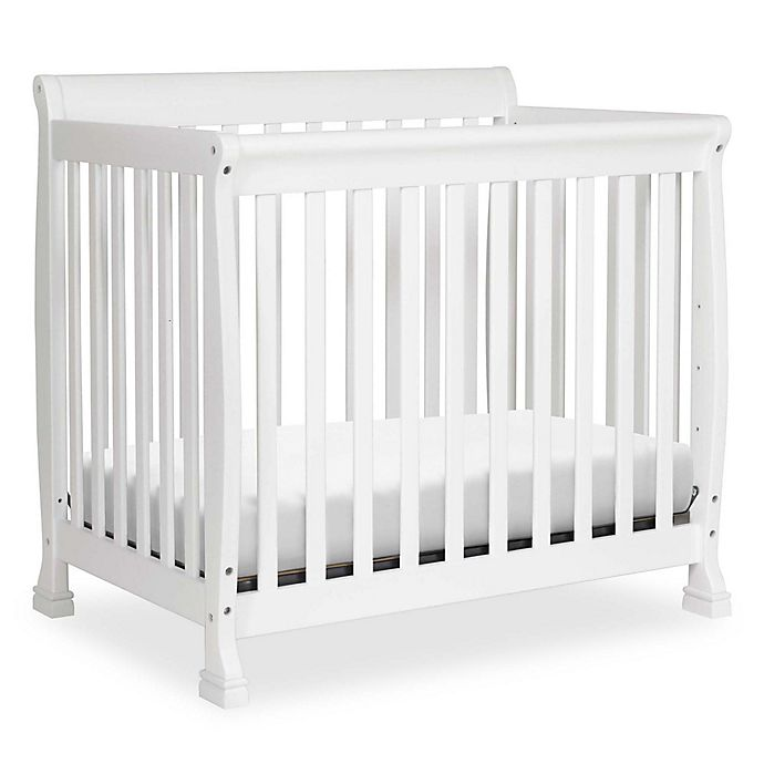 Alternate image 1 for DaVinci Kalani 2-in1 Convertible Mini Crib in White