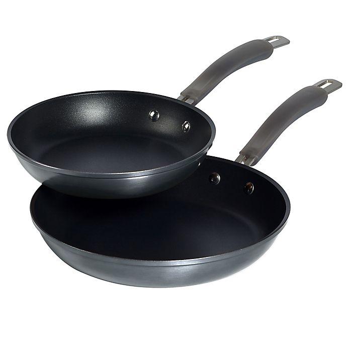 Alternate image 1 for Epicurious Translucent Aluminum Nonstick 2-Piece Fry Pan Set in Caviar