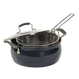 Epicurious Translucent Aluminum Nonstick 3-Piece Fryer Basket Set in Caviar