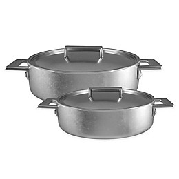 MEPRA Attiva Pewter Stainless Steel Wok with Lid
