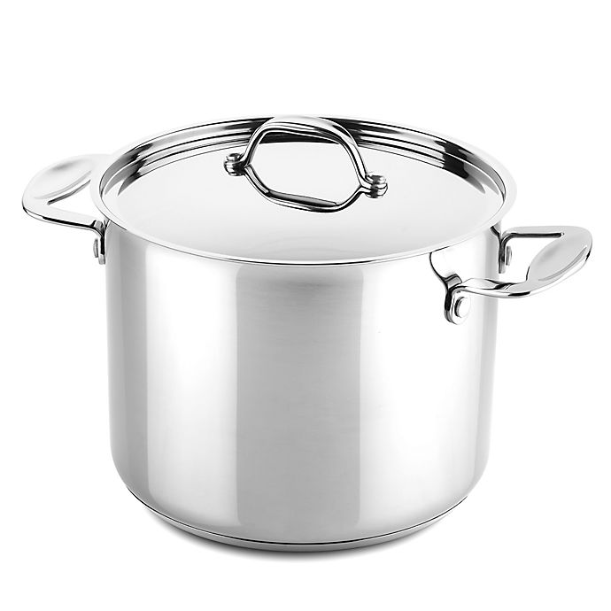 Alternate image 1 for MEPRA Glamour Stone Nonstick Stainless Steel 8.5-Inch Covered Deep Pot
