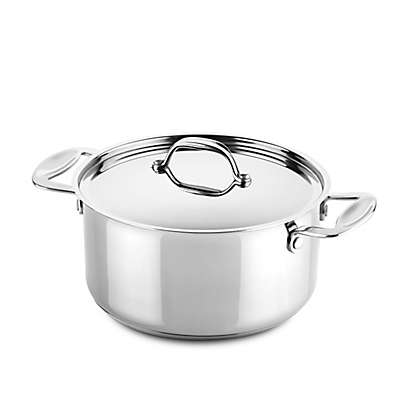 Mepra Glamour Stone Nonstick Stainless Steel 2 qt. Covered Frying Pan with Side Handles