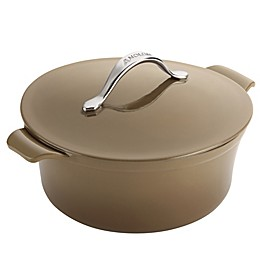 Anolon® Vesta Cast Iron 5 qt. Round Dutch Oven in Umber