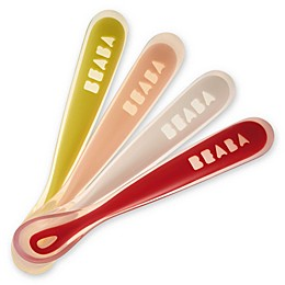 Beaba® First Stage Silicone Baby Spoons (Set of 4) in Neon