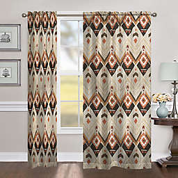 Laural Home Natural Lodge 84-Inch Room Darkening Rod Pocket Window Curtain Panel