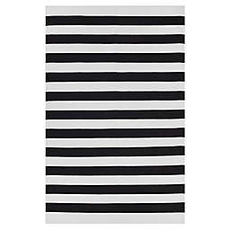 Fab Habitat Nantucket 10-Foot x 14-Foot Area Rug in Black/White