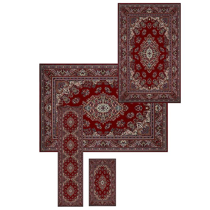 Alternate image 1 for Lionra Mane Kerman 4-PIece Area Rug Set