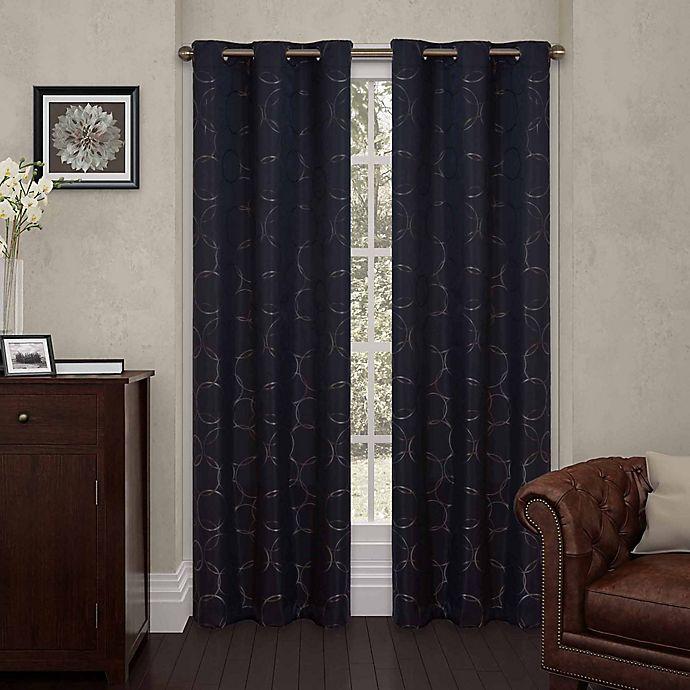 Alternate image 1 for Eclipse Meridian 108-Inch Grommet Top Room Darkening Window Curtain Panel in Black