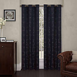 Eclipse Meridian 108-Inch Grommet Top Room Darkening Window Curtain Panel in Black