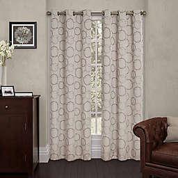 Eclipse Meridian 108-Inch Grommet Top Room Darkening Window Curtain Panel in Linen