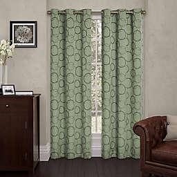 Eclipse Meridian 108-Inch Grommet Top Room Darkening Window Curtain Panel in Sage