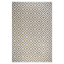 Fab Habitat Chanler 6-Foot x 9-Foot Indoor/Outdoor Area Rug in Almond/White