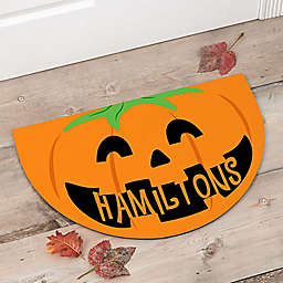 Happy Jack O' Lantern Half Round Door Mat