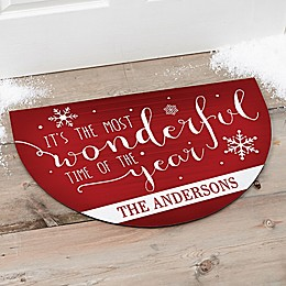 Christmas Quotes Half Round Door Mat