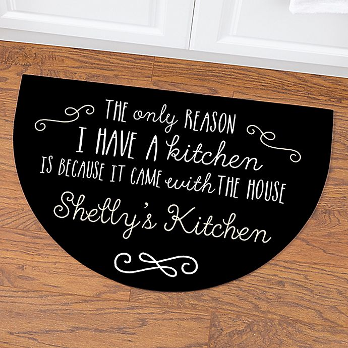 Alternate image 1 for Sassy Kitchen Quotes Half Round Door Mat