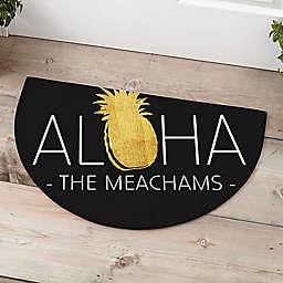 Golden Pineapple Half Round Door Mat