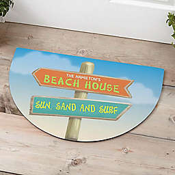 Journey Marker Half Round Door Mat