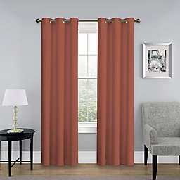 SolarShield® Mandalay 84-Inch Grommet Top Room Darkening Window Curtain Panel in Brick