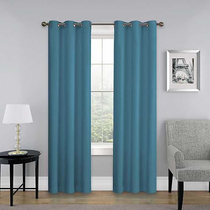 Alternate image 1 for SolarShield® Mandalay Grommet Top Room Darkening Window Curtain Panel