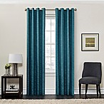 SolarShield® Sycamore 84-Inch Grommet Top Room Darkening Window Curtain Panel in Teal
