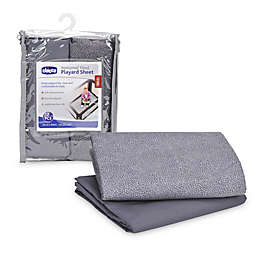 Chicco® 2-Pack Avena Playard Sheets in Grey