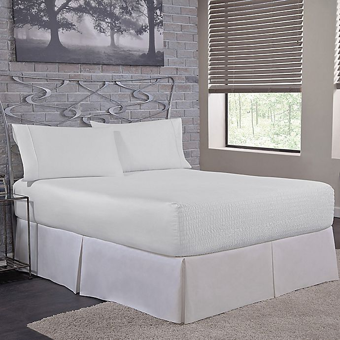 Alternate image 1 for Bed Tite™ Solid 500-Thread-Count Cotton Full Sheet Set in White