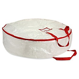 Household Essentials® 30-Inch Holiday Wreath Storage Bag in White