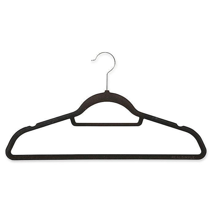 Alternate image 1 for Real Simple® 30-Count Flocked Suit Hangers