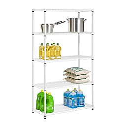 Honey-Can-Do® 5-Tier Adjustable Storage Shelving Unit in White
