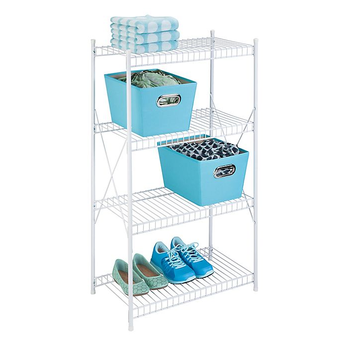 Alternate image 1 for Honey-Can-Do® 4-Tier Storage Shelf in White