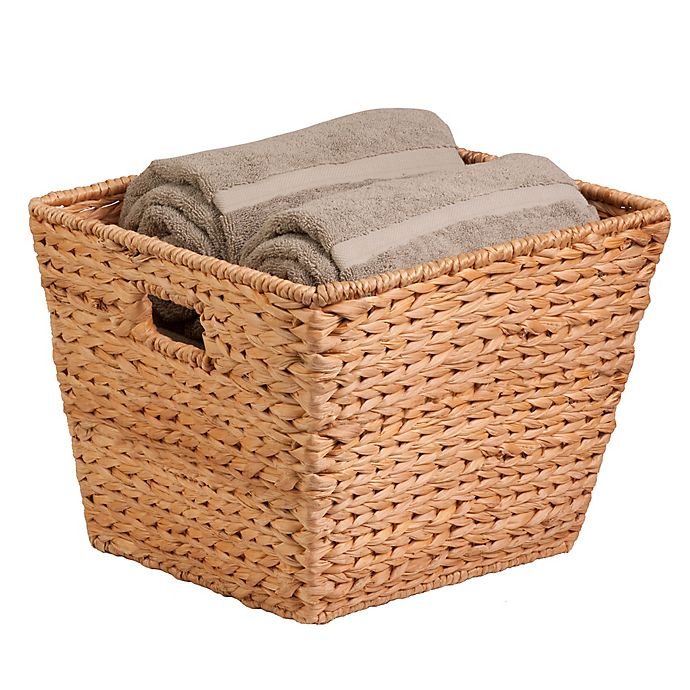 Alternate image 1 for Honey Can Do Square Water Hyacinth Basket