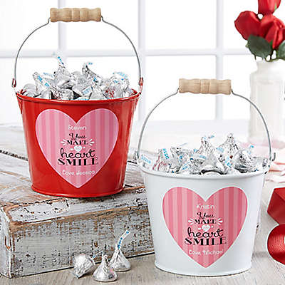 """You Make My Heart Smile"" Mini Metal Bucket"