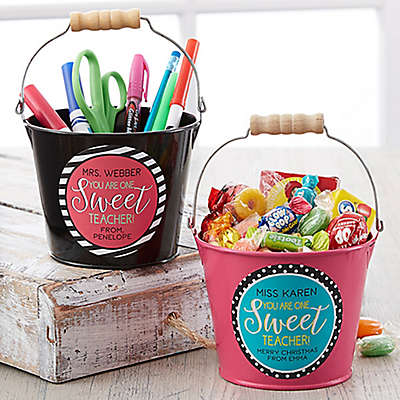 One Sweet Teacher Mini Metal Bucket
