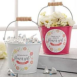 Flower Girl Mini Metal Bucket