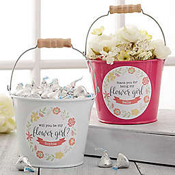Flower Girl Mini Metal Bucket
