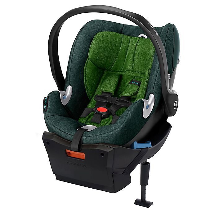 Alternate image 1 for Cybex Platinum Aton Q Plus Infant Car Seat in Green Hawaiian